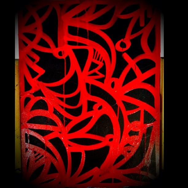 alexander mijares art red and black